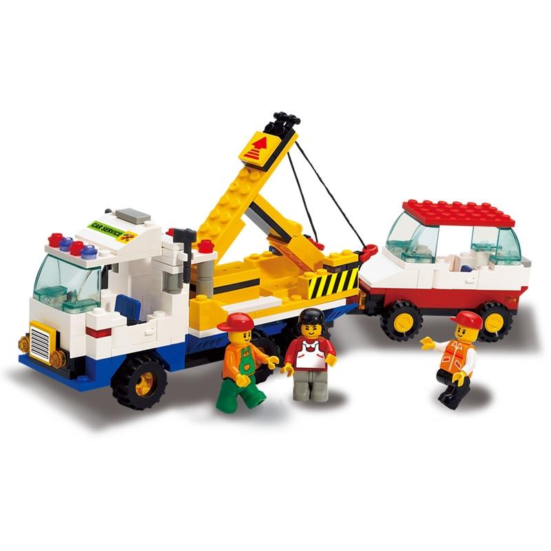 Sluban Model Building Compatible lego Lego B2800 222pcs Model Building Kits Classic Toys Hobbies Rescue Trailer Service