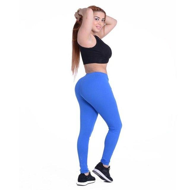 JIGERJOGER Royal blue Plus size XL Low Rise Pure Cotton Solid color Stretch  Elastic Waist women s sporty leggings gym yoga pants 287ea6ec72a7