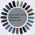 Serie UV Gel Esmalte de Uñas de color GRIS Sexy Rojo y empapa de Larga Serie Colores Gel Esmalte de Uñas UV LED LastingGrey