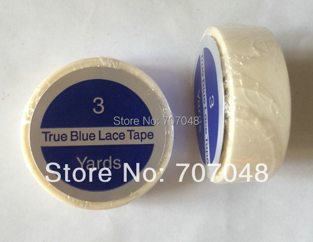 Wholesale hair quality TURE BLUE LACE TAPE double tape for  pu weft,/toupee/wigs 1.27cmx3 yards