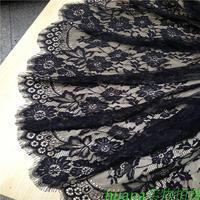 150*300cm eyelash exquisite black white lace dress clothes senior fabric