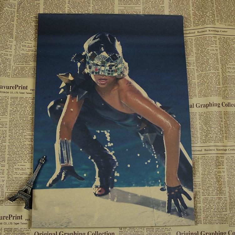 Lady Gaga Poster Kraft Paper Pop Elegant Female Stars Music Singer /wall sticker /kraft poster