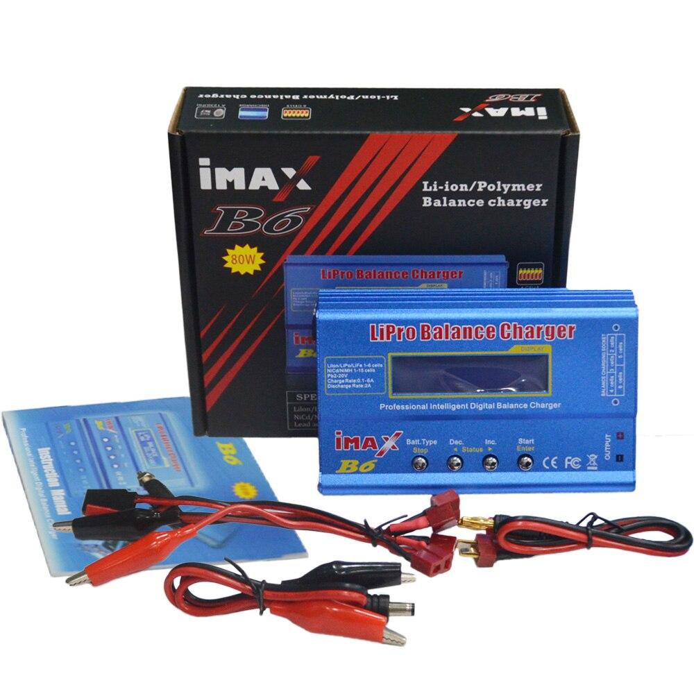 IMAX B6 80 W 6A Digital RC batería Balance cargador Discharger 50 W 5A opcional para 1-6 s Lipo vida NiMh Li-Ion Ni-Cd