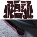17 Pçs/set Car Styling Sulco Ranhura Pad Porta Interior Almofada De Látex Mat Anti-Slip Para Hyundai IX25 2014-2016Car Interno dedicado