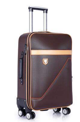 PU Rolling Bagage Koffer Cabine Business Travel trolley tassen voor mannen Bagage Koffer tas wielen Spinner koffer Wielen zakken-in Rij bagage van Bagage & Tassen op  Groep 3
