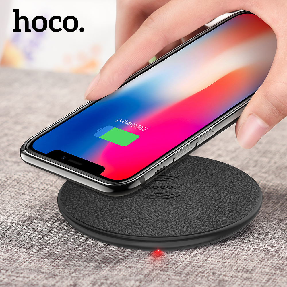 HOCO original Qi Wireless Charger 5V2A Desktop Wireless Charging Pad For iPhone X 8 8 Plus for mi mix 2s Samsung Galaxy S9 S8 +