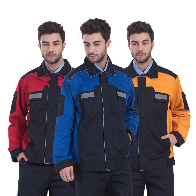 Reflective Workwear for Men Jacket and Trousers Repairman Mechanics Work Set High Quality Work Clothing with Reflective StripesReflective Workwear for Men Jacket and Trousers Repairman Mechanics Work Set High Quality Work Clothing with Reflective Stripes