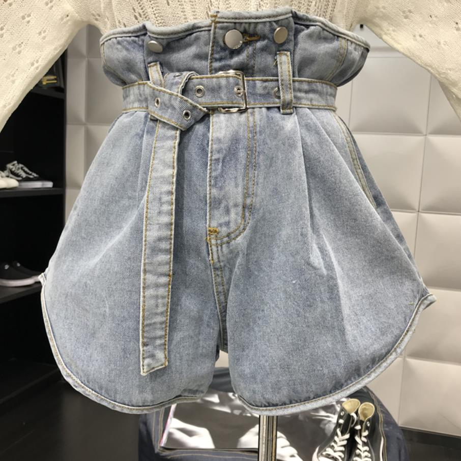 Plus Size 5XL!High Waist Denim Shorts Women 2019 Summer New Fashion Loose Wide Leg Jeans Shorts