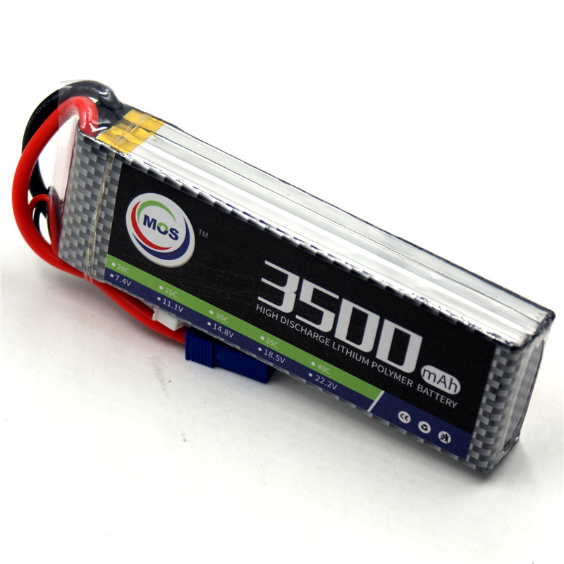 MOS RC Lipo battery 3S 11.1v 3500mAh 40C-80C For RC Airplane Drone Car Boat Li-ion Batteria AKKU mos 5s rc lipo battery 18 5v 25c 16000mah for rc aircraft car drones boat helicopter quadcopter airplane 5s li polymer batteria