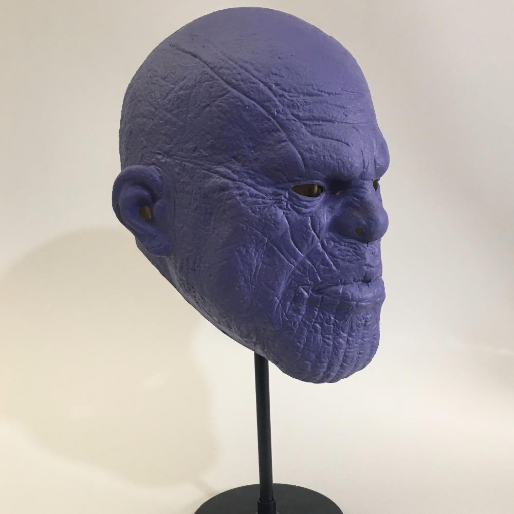 Avengers 3 Infinity War Thanos Mask Cosplay Latex Helmet Superhero Avengers Thanos Masks Halloween Party Props Deluxe3
