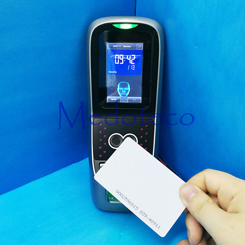 Biometric Face & Fingerprint Time Attendance And Access Control System With Rfid Card Door Access Controller Iface7 Multibio700