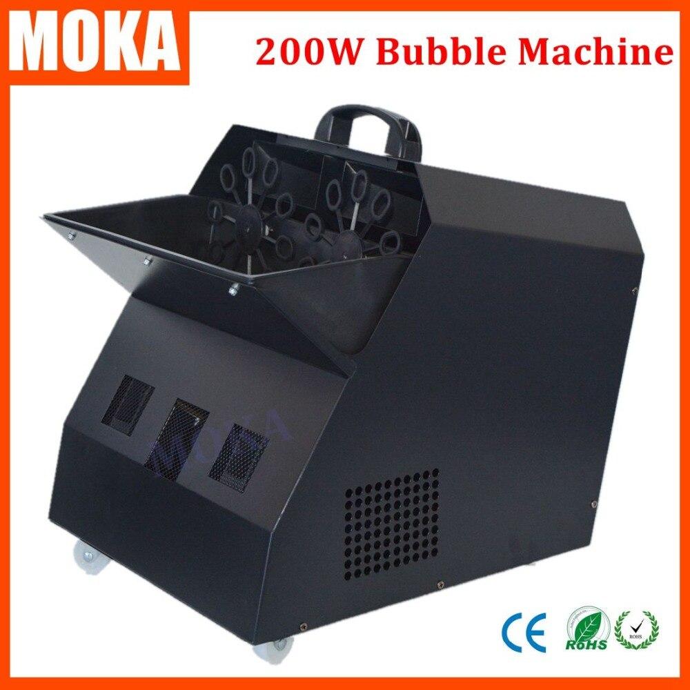 200 w grande Machine à bulles télécommandée avec 4 roues Double Machine à bulles blaster pour les mariages de Concerts