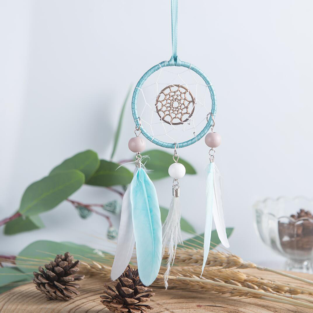 Car Pendant Decor Dream Feather Decoration Heptagram Dreamcatcher Home Catcher Wind Chimes Auto Rearview Mirror Styling Ornament in Ornaments from Automobiles Motorcycles