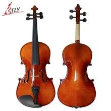 TONGLING Marke Oil Varnish Anfänger Violine Handwerk Ahornholz Violino Musik Instrument + Fall + Bogen String + Kolophonium + stumm