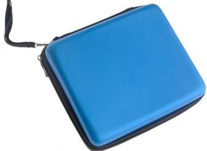 Image 4 - Силиконовый чехол + Защитная прозрачная защитная пленка для сенсорного экрана + синяя Защитная эва жесткая дорожная сумка чехол для nintendo 2DS