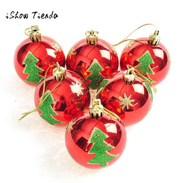 discount 6pcs christmas decorations for home bedroom balls baubles party xmas tree decor natale decorazioni