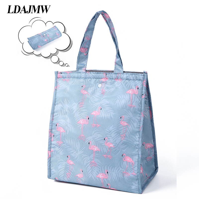 LDAJMW Waterproof Collapsible Thermal Insulated Tote Food Drink Storage font b Bag b font Organizer For