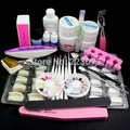 New Pro Nail Art UV Gel Kits Brush Remover nail tips glue Tools