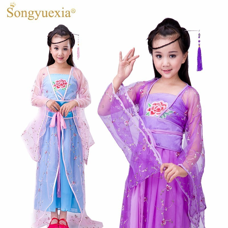 Ancient Costume Clothing Fairy Fresh And Quiet DATANG Children Costume Woman Tailing The Concubine Court Ancient Fairy Dress
