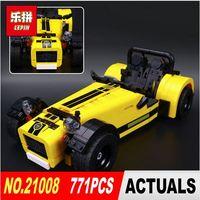 IN STOCK LEPIN 21008 Technic Series 771pcs The Caterham Classic 620R Racing Car Set Model Building
