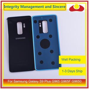 Image 4 - 50 sztuk/partia dla Samsung Galaxy S9 Plus G965 G965F G9650 SM G965F obudowa klapki baterii na wycieraczkę tylnej szyby pokrywy skrzynka obudowy podwozia