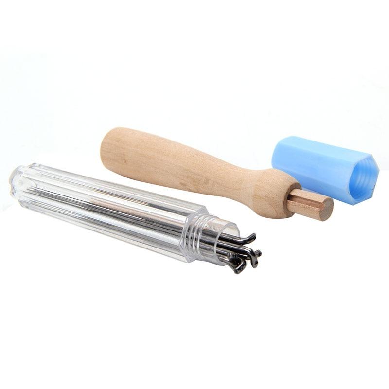 7PCS Felting hand tool set  Needles Holder Wooden Handle Wool Felting Tools Outfit Slim New