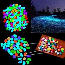 500 шт садовые украшения светится в темноте искусственная светящаяся галька камень аквариум вечерние свадебные украшения 2C0203