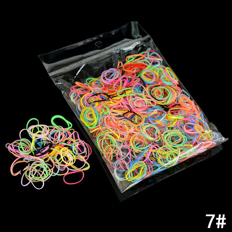 Купить с кэшбэком Hot Sale 1000pcs/lot Candy Color Hair Ring Rubber Ropes Disposable Elastic Hair Bands for Girls