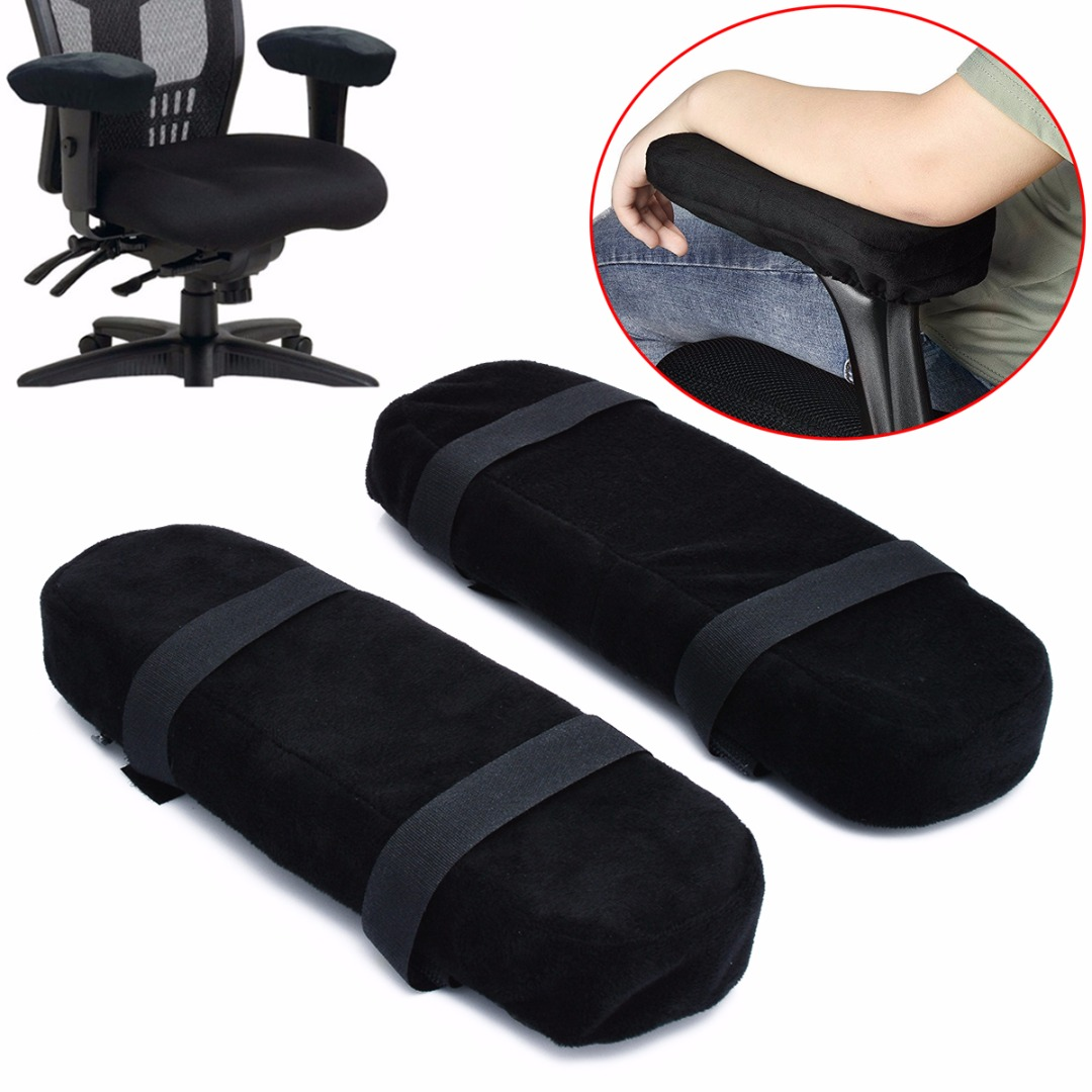 2pcs Slow Rebound Memory Foam Armrest Cushion Pad Black Breathable Chair Mat Elbow Rest Cushion For Office Home Chairs Mayitr chair
