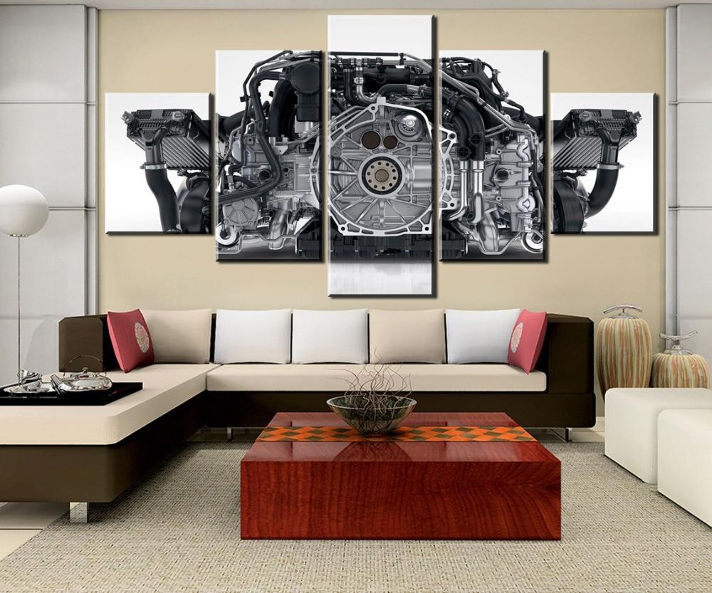 HD Printed 5 Pieces Canvas Painting Modern Wall Art 911 Engine For Modern Decorative Bedroom Living Room Home Wall Art...  911 wall art   Porsche Wall Art Project (#12) HD Printed 5 Pieces Canvas Painting Modern font b Wall b font font b Art b