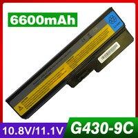 6600mAh laptop battery for LENOVO 3000 G550 B460 B550 G430 G450 G455 G530 G555 N500 V460 42T4725 42T4726 Z360 51J0226 57Y6266