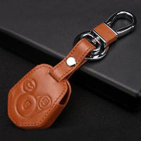 New 3 Bottons Remote Key Fob Holder Cover Case Leather Bag Shell For XV Forester Car