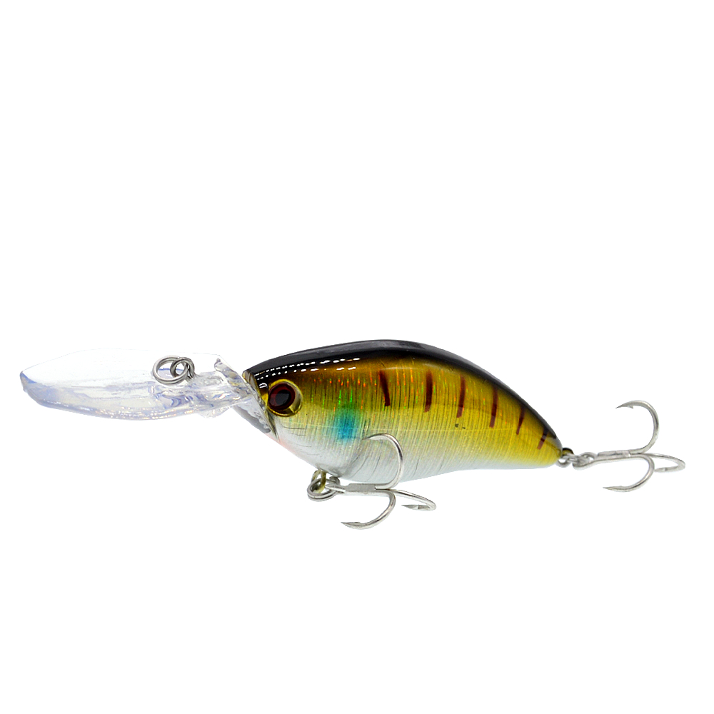 Image 2 - 110mm 18g Deep Diving Pesca Fishing Lure Hard Crankbait Minnow Wobbler for Bass-in Fishing Lures from Sports & Entertainment