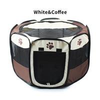 Nylon prática respirável cão gato casa canil cercadinho gaiola do cão ao ar livre tenda octogonal para cães gatos animais de estimação suprimentos cerca gaiolas