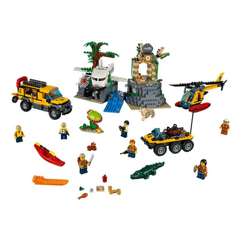 Bela 10712 City Jungle Explorers Jungle Exploration Site Building Blocks 60161 Legoings City Bricks Figures Model Toys Gift 857pcs city jungle explorers exploration site wild animals 02061 model building blocks assemble toys bricks compatible with lego