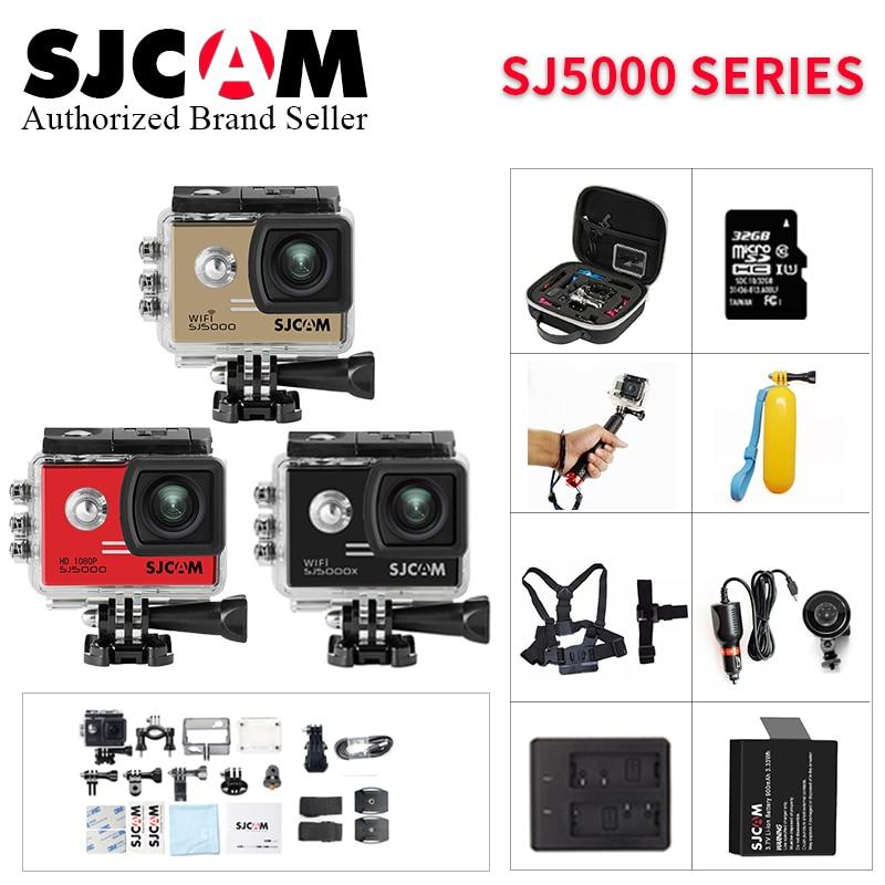 все цены на Original sjcam SJ5000 Series SJ5000 & SJ5000 WiFi & SJ5000X Wifi Action Sport Camera 4K Waterproof SJ 5000 go extreme pro Camera