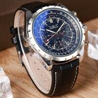 JARAGAR Fashion Brand Business Watch Men Luxury Crocodile Embossed Leather Wrist Watches Automatic Mechanical Calendar Men