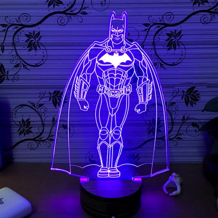 Iron Man Lamp Batman Light Marvel Avengers 3d Night Light