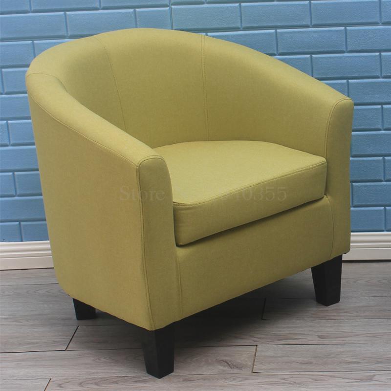 Европейский тканевая одноместная Софа стул интернет кафе кофе небольшой диван гостиничная комната кабинет компьютерный диван стул - Цвет: VIP 10