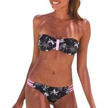 separate female swimsuit Women's Floral Print Bikini Set Swimming Swimwear Beach Suit woman sexy Beach two-piece swimsuit Bride