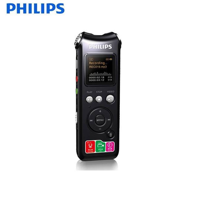 Philips 100% Original Spy Pen 8GB Digital Voice Recorder Pen Audio Recorder with Camera  2120hours Recording Color OLED Display