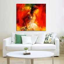 Handpainted Oil Painting on Canvas Beautiful Shining Girl Wall Art Modern Abstract Art Oil Painting Home Decor No Frame