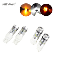 2x High Power 75W CREE Chip T20 7443 7440 LED Bulbs For Car Reverse Lights Signal