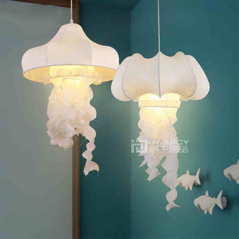 Perfect Online Shop Modern Silk Fabric Jellyfish Led Pendant Lamp Lights Fixtures  Wrought Iron Metal Cloth Droplight Store Restaurant Bedroom Decor    Aliexpress ...