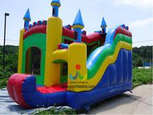 6*5M Outdoor Inflatable House Bouncer Slide Combo/Funny Kids Colorful Inflatable Bouncy Castle with Slide
