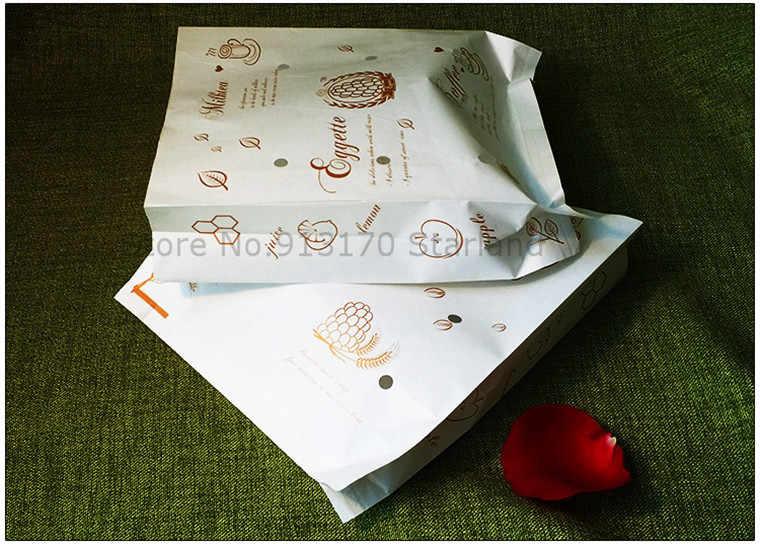 Minyak Bukti Kertas Kemasan Untuk Makanan Baker Wafel Tas Tas