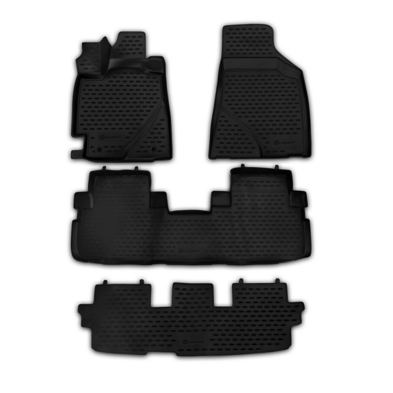 Car Mats 3D salon For TOYOTA Highlander 2010-2014 4 PCs (polyurethane) custom fit car floor mats for toyota camry rav4 prius prado highlander verso 3d car styling carpet liner ry56
