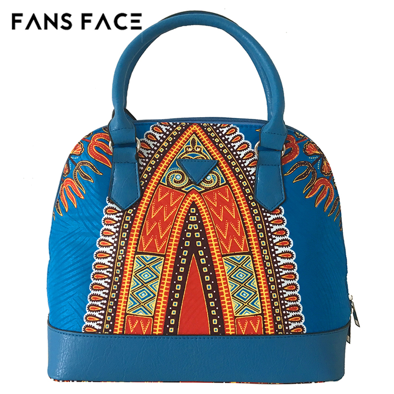 Fans Face Traditional African Print Bags Female Ping Party Luxury Handbags Women Blue Designer Afrikanische Kleider In Africa Clothing From Novelty