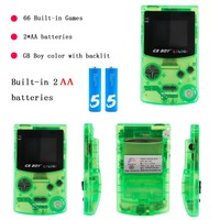 GB Boy Colour Color Handheld Game Player 2.7 Portable Classic Game Console Consoles With Backlit 66 Built in Games tetris