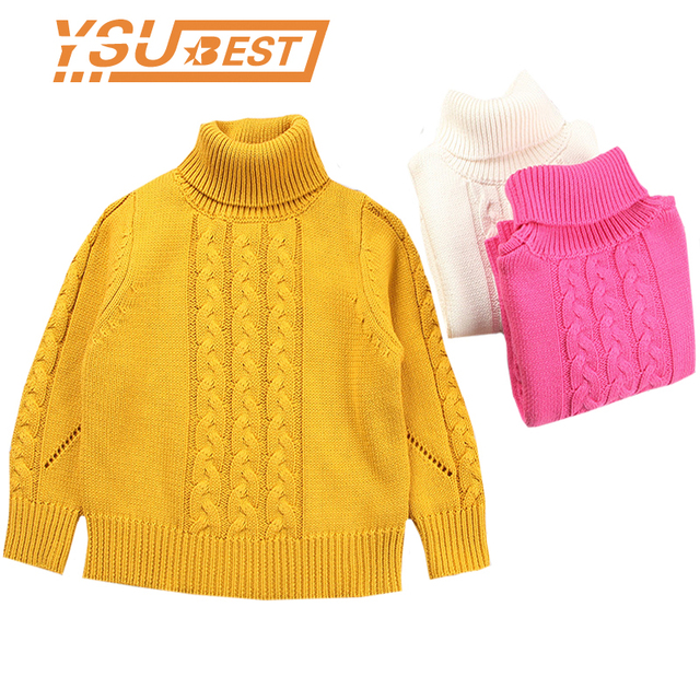 96deac64a587 1 6Yrs Baby Sweater Girls Winter Pullover Thicken Knitted Kids ...